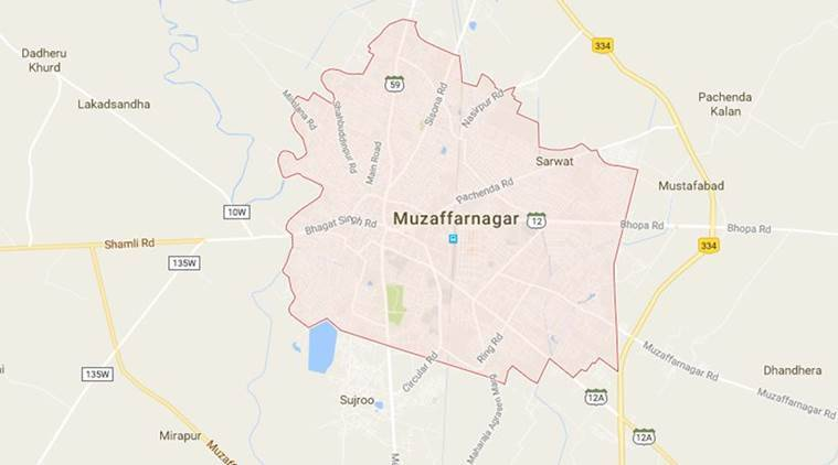 muzaffarnagar, bus on fire, accident, news, bus hits man, latest news, India news, national news,