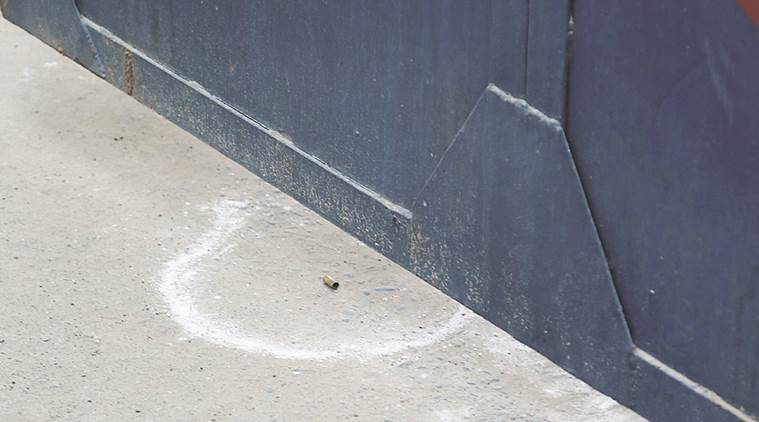 A bullet shell at the gate of Nabha jail. Express Photo by Jasbir Malhi