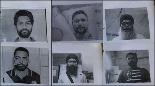 The six inmates who escaped from Nabha Jail today. (Express photo by Harneet Sodhi)