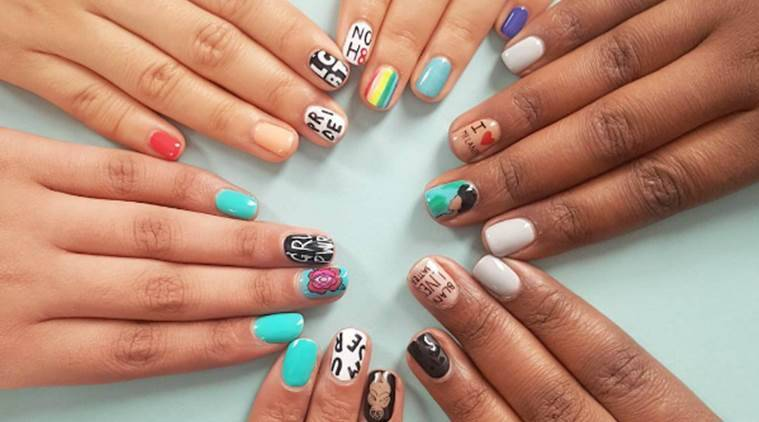 The artiste believes socially conscious nail art is important owing to the atrocities going around the world right now. (Source: Instagram/Ami Vega)