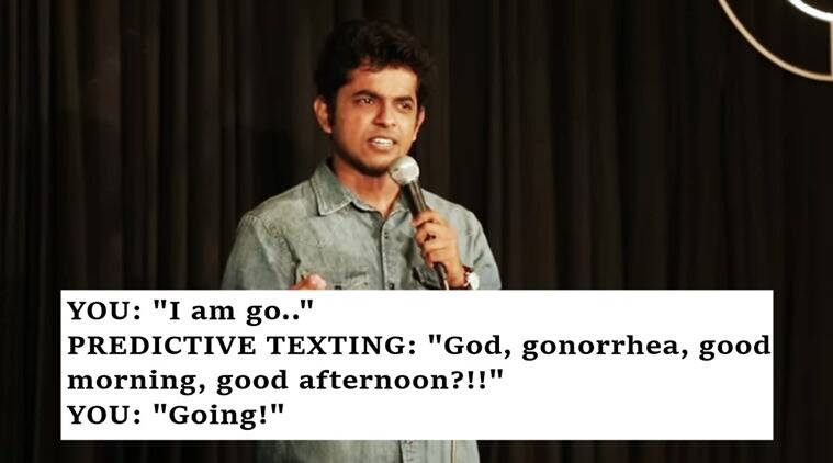 smartphones, naveen richard predictive texting, predictive texting naveen richard funny video, autocorrect jokes, autocorrect funny jokes, predictive texting funny jokes, indian express, indian express news, indian express viral, indian express trending