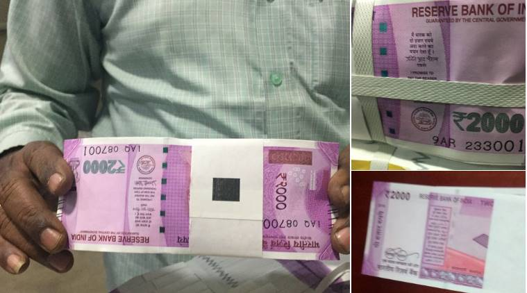 rs 2000 note, rs 2000 rbi note, new banknote, new 2000 banknote, rs 2000 note real or hoax, rs 2000 note photos leaked, rs 2000 note rbi, indian express, indian express news