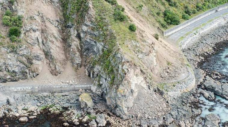 New Zealand, earthquake, New Zealand earthquake, new zealand crew, clear route, kaikoura, coastal town kaioura, world news, indian express