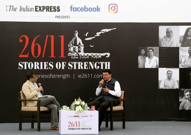Devendra fadnavis, 26/11 exhibition, stories of strength exhibition, anant goenka, mumbai attack photos, images, pictures, mumbai terror attack, mumbai terror attack victims, news, latest news, India news, national news