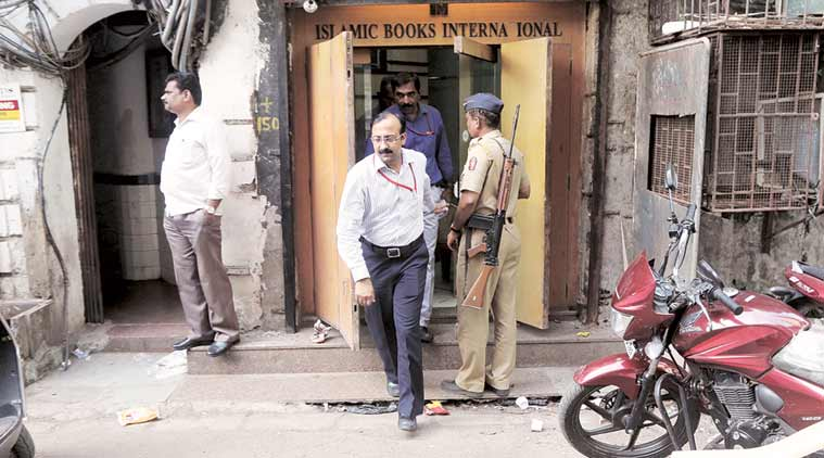 NIA raided 12 premises linked to IRF Saturday. (Express Photo by Ganesh Shirsekar)