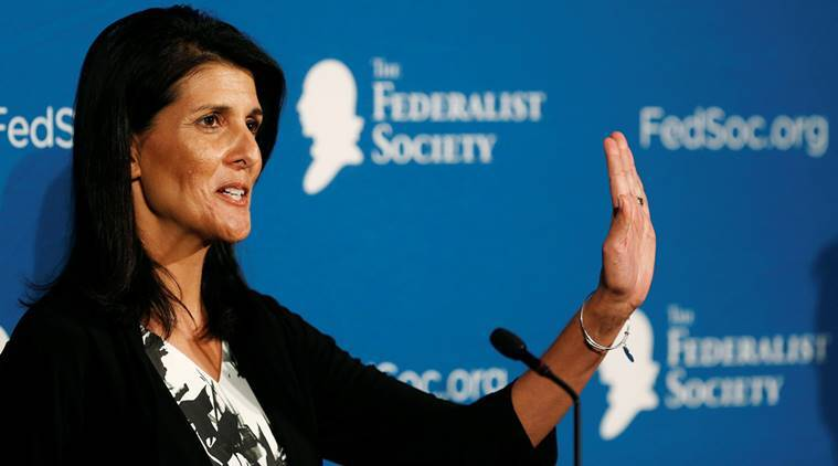 Nikki Haley, US ambassador, US envoy, south carolina governor, indian-american governor, indian-american, congressional panel, US Ambassador to the United Nations, US ambassador to UN, Samantha power, replace samantha power, united nations, world news, indian express news