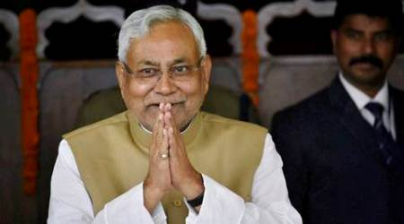 Patna: Bihar Chief Minister Nitish Kumar arrives during the ongoing Winter-session of the Bihar Assembly in Patna on Monday. PTI Photo(PTI11_28_2016_000065B)