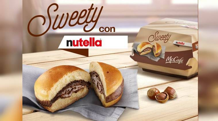 nutella, nutella burger, mcdonalds, mcdonalds italy, mcdonalds nutella burger, nutella sweety con, mcdonalds italy nutella, nutella dish, nutella food, nutella recipe, food news, latest news, indian news