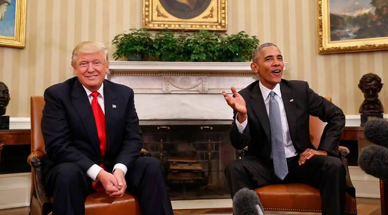 Trump and Obama meet in White House to begin transition talks