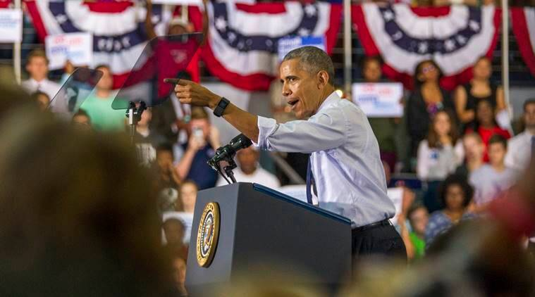 Barack Obama, Hillary clinton, clinton support, obama support, US elections 2016, US presidential elections, Donald Trump, republican trump, Hillary Clinton, democratic clinton, US presidential candidates, world news, indian express