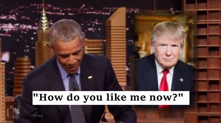 obama, obama on jimmy fallon show, obama on the tonight show, obama and jimmy fallon, obama comment donald trump win, obama comment us elections, obama on donald trump victory. indian express, indian express news, trending globaly, viral videos, indian express