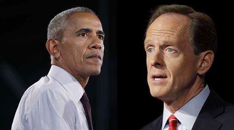Barack Obama, Pat Toomey, US Senator, President Obama, US Elections 2016, US news, world news, latest news, indian express