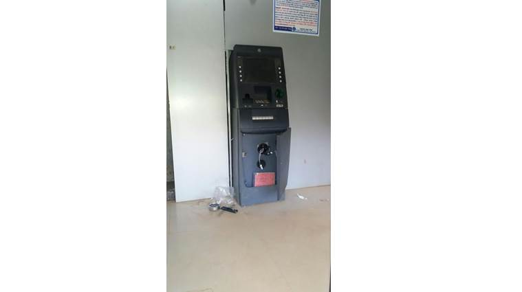 Nabarangpur, Odisha, Odisha, miscreants, Odisha miscreants, ATM, miscreants break into ATMs, national news, india news, indian express