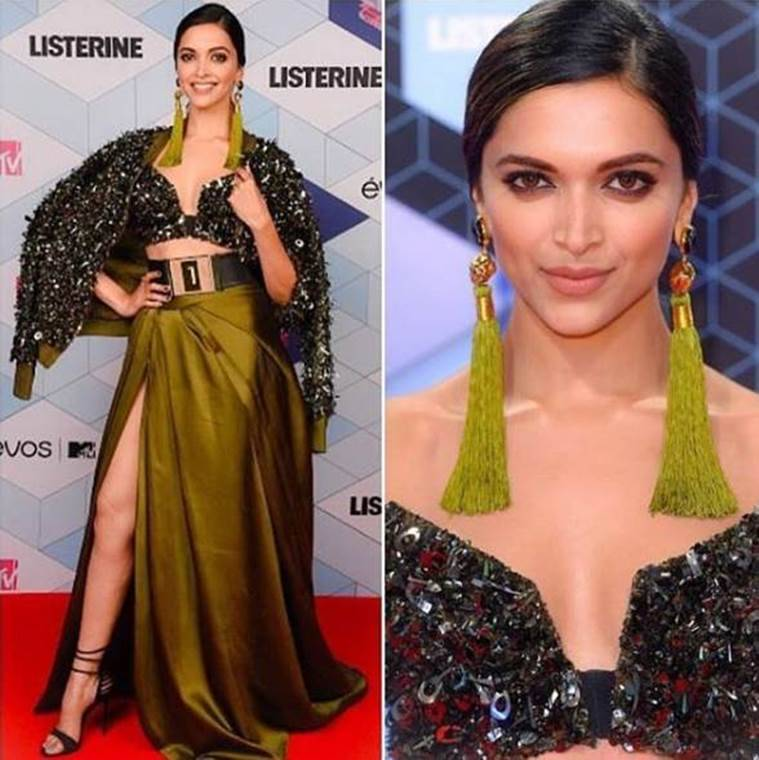 Deepika Padukone at the EMAs. (Source: Instagram/Monisha Jaisingh)