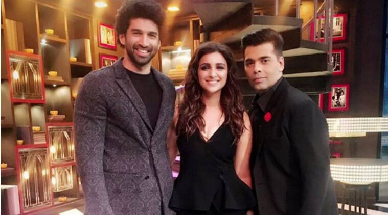 koffee with karan, koffee with karan 5, koffee with karan 5 karan johar, koffee with karan 5 parineeti chopra, koffee with karan 5 aditya roy kapur, koffee with karan 5 parineeti aditya, koffee with karan 5 dawaat e ishq, koffee with karan 5 premiere episode, koffee with karan 5 shah rukh alia, koffee with karan 5 kjo, koffee with karan ew season, koffee with karan parineeti aditya, koffee with karan 5 news, koffee with karan 5 guests, koffee with karan 5 episodes, television news, indian express, indian express news