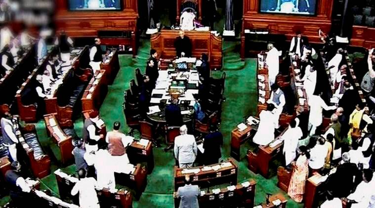 lok sabha adjourned, parliament session, opposition protests, parliament winter session, modi, narendra modi, 15 new castes included, PoK, PoK refugees, indian express, india news