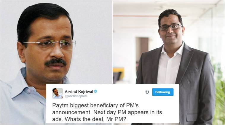 PayTM' CEO's response to Arvind Kejriwal is epic!