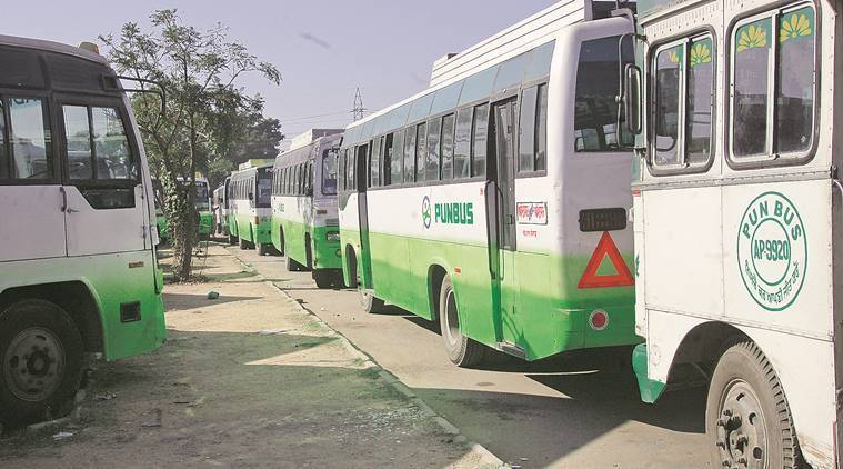 2017 Punjab elections, Punjab Assembly Elections, punjab elections bus service, pendu bus service, punjab news, indian express
