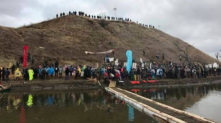 Dakota access oil pipeline, Dakota oil pipeline, oil pipeline protests, US protests, North Dakota pipeline protests, US news, world news, latest news, indian express