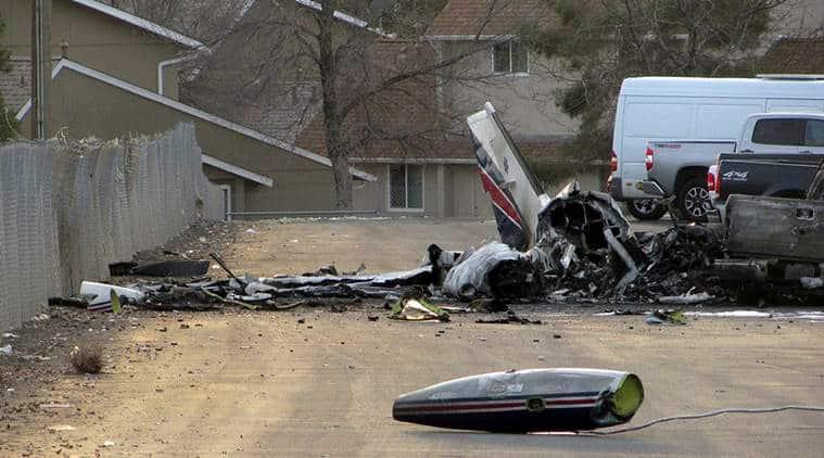 plane crash, air ambulance flight, Twin engine plane, Nevada, Elko, american medflight, aeroplane crash, air plane crash, flight crash, plane crash today, world news, indian express news