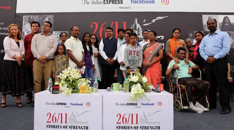 Maharashtra chief minister Devendra Fadnavis inaugurating the video exhibition of 26/11 victims titled Stories of Strength of indian express at Kala Ghoda on Saturday. Express photo by Prashant Nadkar, 26th November 2016, Mumbai.