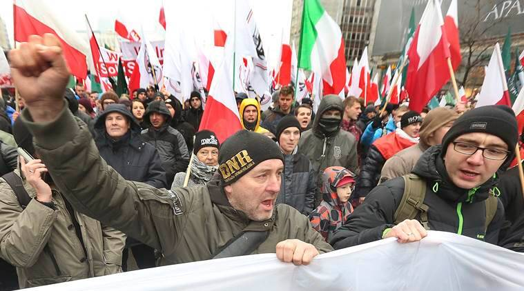 Poland, Polish Independence Day, Polish nationalists, Polish Independence Day march, Poland news, world news, latest news, indian express