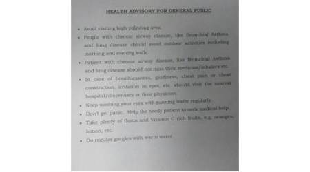 Amid worsening air quality, Delhi govt issues health advisory for public
