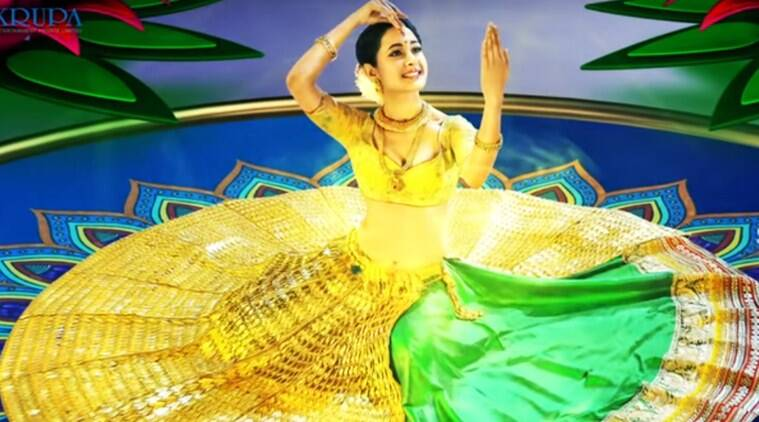 First look of Pragya Jaiswal from Om Namo Venkatesya. (Source: YouTube screen-grab)