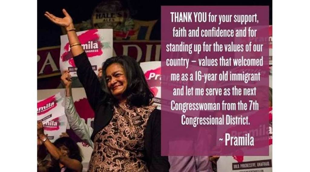 Pramila Jayapal, house of representatives, us elections, us elections 2016, donald trump, trump, hillary clinton, clinton, indian american woman, first indian american woman us house of representatives, us news, world news, indian express