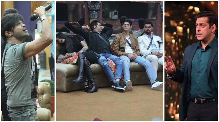 preview bigg boss 10, salman khan weekend ka vaar bigg boss 10, salman khan rahul dev bigg boss 10, salman khan angry with contestants Bigg boss, Himesh Reshammiya bigg boss 10, swami om, swami om bigg boss 10, eviction bigg boss 10, Bigg boss 10 news, bigg boss 10 updates, bigg boss 10, television news, entertainment news, indian express news, indian express