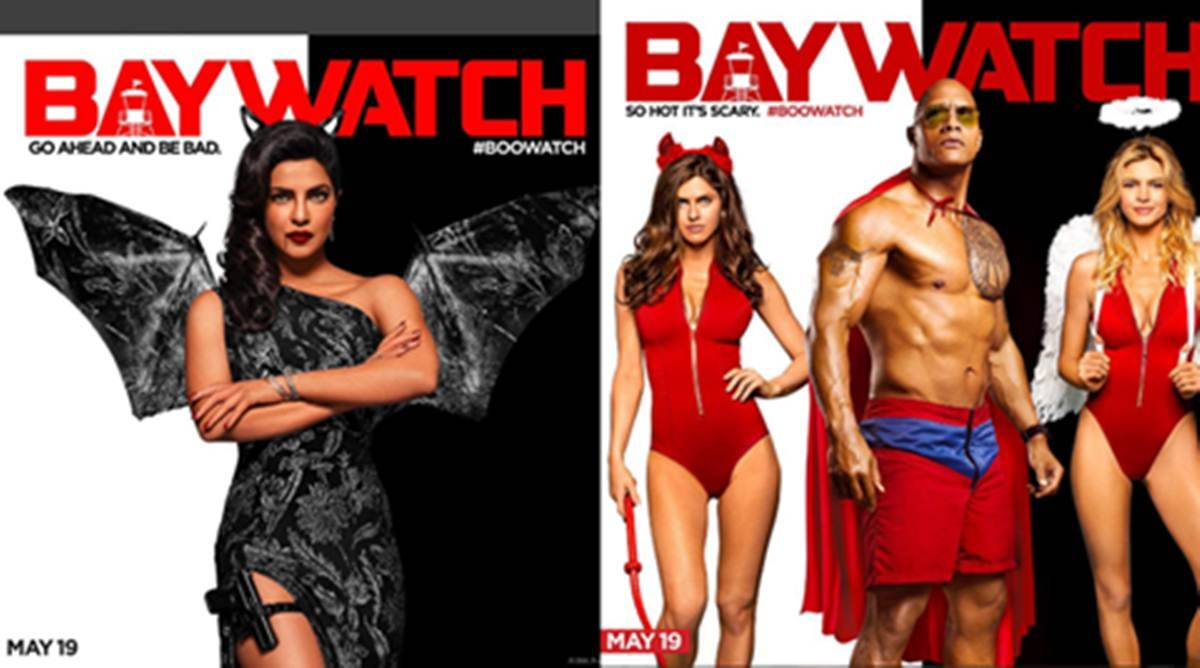 Baywatch New Posters Priyanka Chopra Dwayne The Rock Johnson