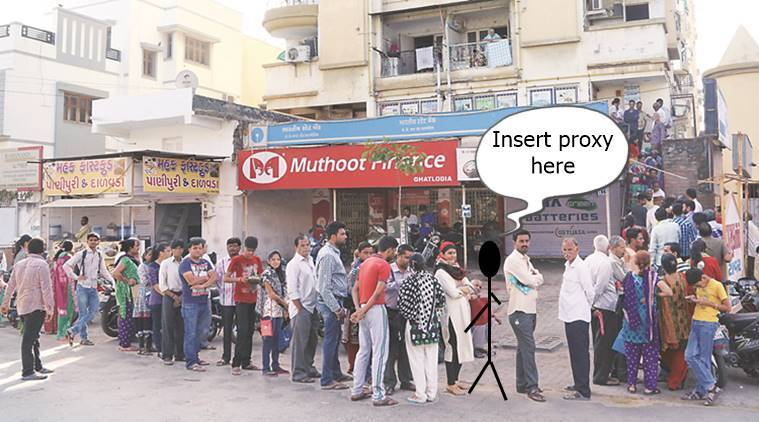 demonetisation, demonetisation queues, demonetisation long queues, donething, bookmychhotu, jugaad demonetisation, stand in queue jugaad, hire people, indian express, indian express news
