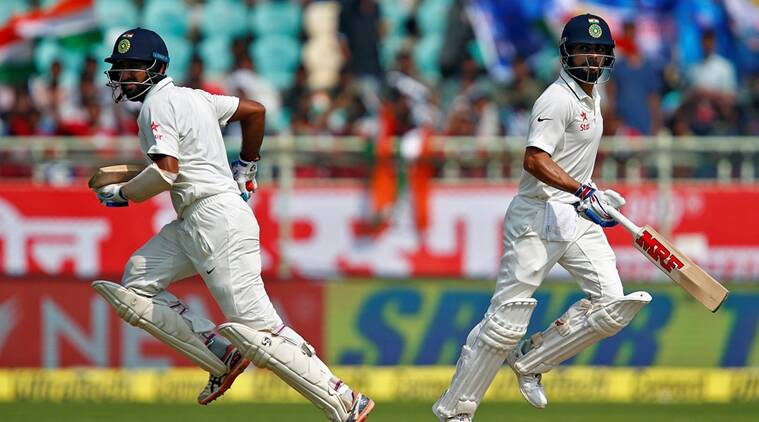 virat kohli, cheteshwar pujara, kohli, pujara, kohli pujara, kohli pujara partnership, india vs england second test, india innings, india vs england day 1, india vs england test series, cricket news, sports news