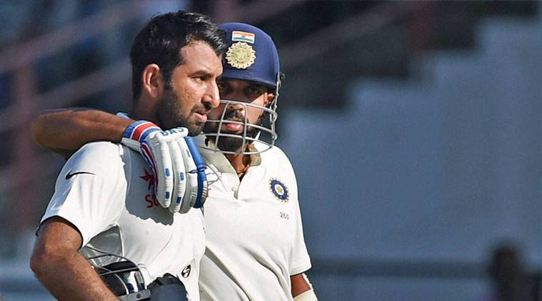 India vs England, Ind vs Eng, India vs England score, Ind vs Eng 1st Test, Ind vs Eng Rajkot, Murali Vijay, Chesteshwar Pujara, Cricket news, Cricket