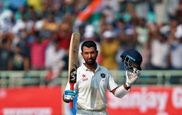 Cheteshwar Pujara, Pujara, pujara test hundred, India vs England, Ind vs Eng, Ind vs Eng 2nd Test, Ind vs Eng 2nd Test Vizag, India vs England 2nd Test photos, ind vs Eng photos, Virat Kohli, kohli, Kohli photos, Cricket photos, cricket news, Cricket