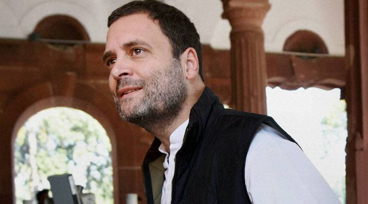 Congress Vice-President Rahul Gandhi in Parliament
