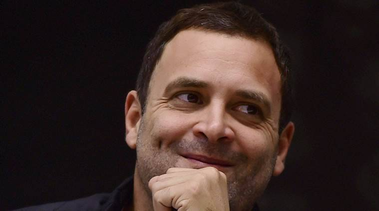 New Delhi: Congress vice president Rahul Gandhi during the Indira Gandhi Centennial Lecture by President Pranab Mukherjee,    organised on the occasion of the birth anniversary of  Former Prime Minister Indira Gandhi,  at Vigyan Bhavan in New Delhi on Saturday.PTI Photo by Manvender Vashist(PTI11_19_2016_000253B)