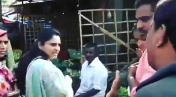 Ramya was heckled during her visit to a farmer's market in Mandya