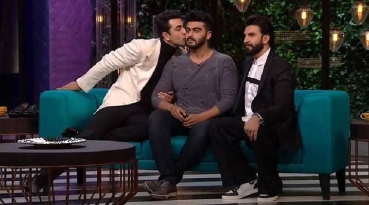 Arjun Kapoor did a cameo in Koffee With Karan and he was literally touched and moved by Ranbir Kapoor and Ranveer Singh