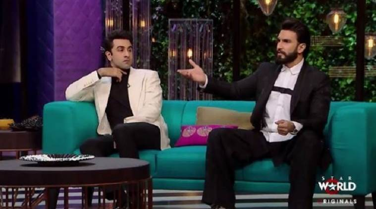 koffee with karan, karan johar, koffee with karan season 5, koffee with karan ranbir kapoor, ranbir kapoor, ranbir, koffee with karan ranveer singh, ranveer singh, ranveer, entertainment, entertainment others, latest news, indian express