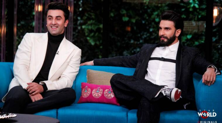 ranveer singh ranbir kapoor, ranveer singh koffee with karan, ranveer befikre, ranveer ranbir, ranveer befikre vanai kapoor, ranveer ranbir karan johar, ranveer singh news, ranveer singh interview, befikre, bollywood news, indian express, indian express news