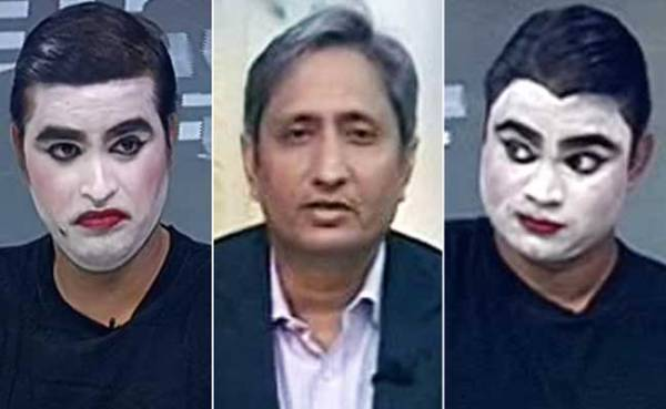 Ravish Kumar called mime artists on his show yesterday