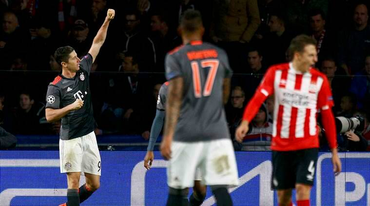 Robert Lewandowski, Bayern Munich, Robert Lewandowski goals, Bayern Munich vs PSV Eindhoven, Bayern Munich vs PSV Eindhoven champions league results, Champions league, Champions league news, football, football news, sports, sports news