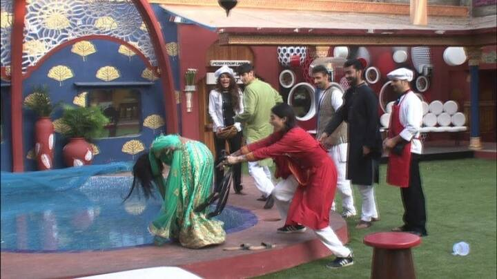 bigg boss 10. rohan mehra, lopamudra, mona lisa, swami om, nitibha kaul, rahul dev, karan mehra, manveer gurjar