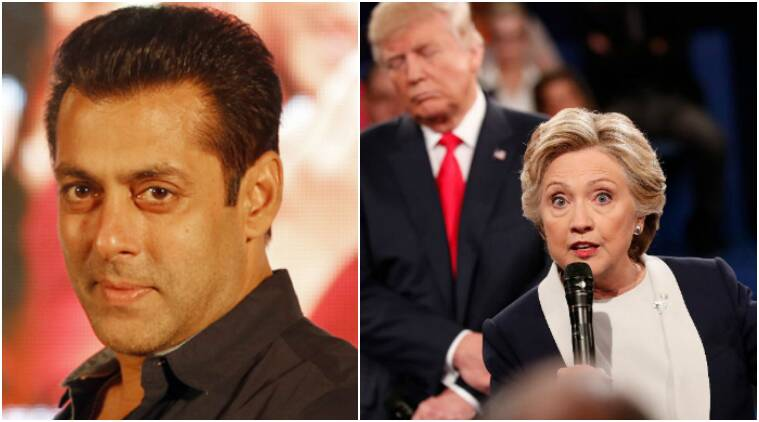Salman khan, salman khan hillary clinton, salman khan us presidential elections, salman khan elections, salman khan hillary donald trump, salman khan donald trump, salman khan tweets hillary, salman khan supports hillary, salman khan US elections, salman khan modi, salman khan kite flying, salman khan bigg boss 10, salman khan tubelight, salman khan president, salman khan twitter, salman khan tweets, bollywood news, indian express news, indian express