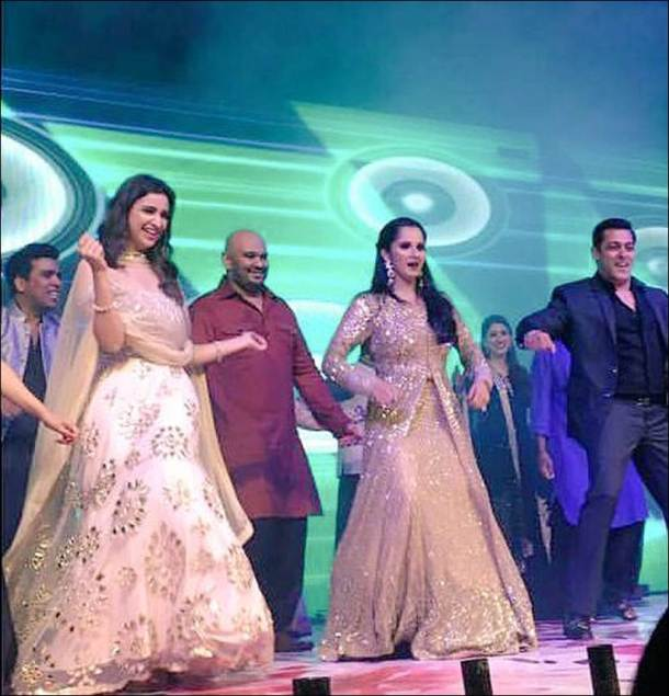 Salman Khan Salman Khan dance, Salman photos, Sania Mirza, Sania Mirza sister's sangeet, Parineeti Chopra