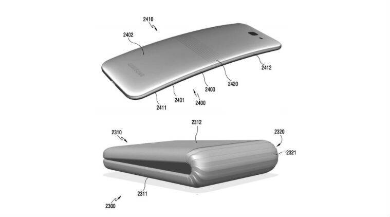Samsung, samsung foldable phone, Samsung Foldable smartphone, Samsung patent, Samsung bendable display smartphone, Samsung new phone, Samsung Galaxy S8 rumours, Apple patents, smartphone, technology, technology news