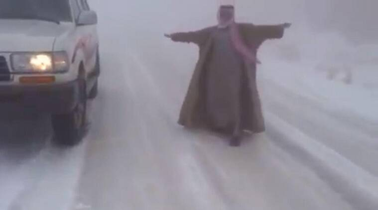 Saudi, saudi snow, Saudi snowfall, Saudi snowmen, snow in saui, saudi temperature, saudi news, saudi climate, world news