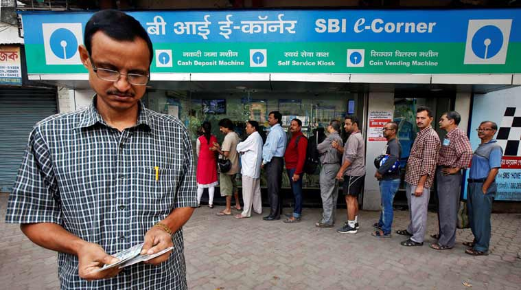 demonetisation, 500-1000 notes invalid, SBI, Transactions at SBI, ATMs of SBI, SBI ready for demonetisation, Narendra Modi, Central government move of demontising high value currency, Banks crowded, ATMs dysfunctional, indian express news