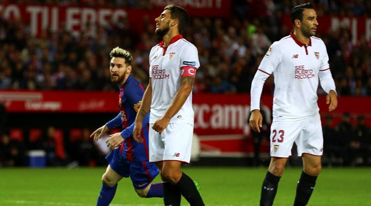 sevilla, sevilla vs barcelona, sevilla la liga, la liga table, sevilla lose, lionel messi, neymar, luis suarez, football news, sports news
